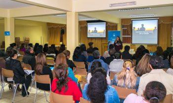 La UnACh realiza charla de promoción en el Colegio Adventista de Iquique