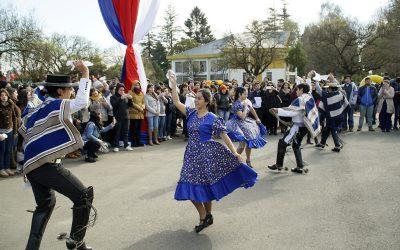 Estudiantes de la UnACh Celebran Fiestas Patrias