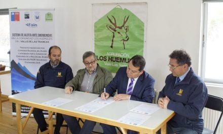 """Lanzamiento del proyecto """"Sistema de alerta ante emergencia"""" en Sector Valle las Trancas"""
