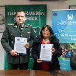 UnAch firma Convenio de Colaboración con Gendarmería de Chile