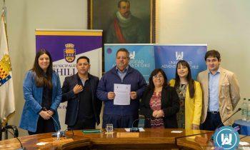 UnACh firma Convenio de Colaboración con Municipalidad de Chillán