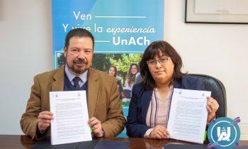 UnACh firmó Convenio de Colaboración con Liceo Narciso Tondreau