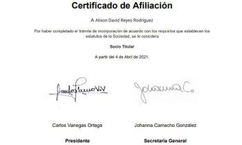 Director de Posgrado de la UNACH, admitido como SOCIO TITULAR de la (SCHEC)