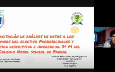 Proyecto de vinculación realizado entre la UNACH y el Colegio Nobel School de Parral.
